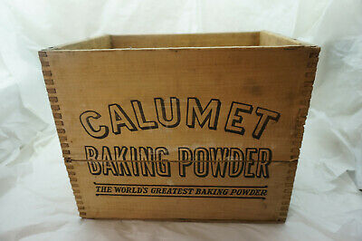Antique Advertising Crate Wood Calumet Baking Powder Country Store Rustic Decor