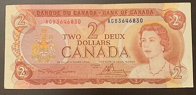 1974 - Canadian 2$ Two Dollar Banknote, Bank Of Canada