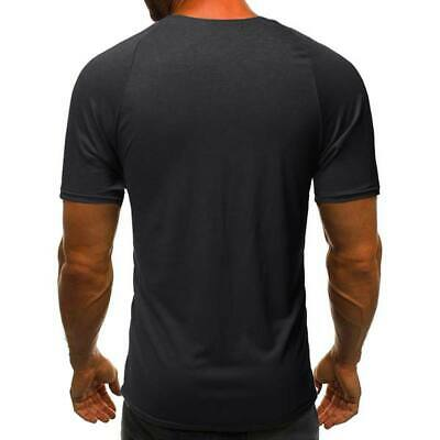 Blouse short sleeve v neck slim fit tops casual muscle tee men's t shirts