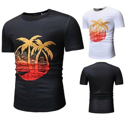 Summer short sleeve o neck men's muscle tee casual t shirt slim fit t shirts