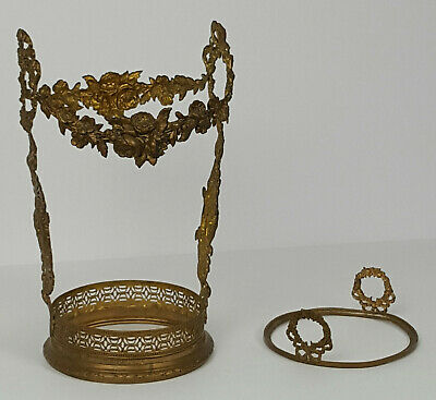 Antique Brass Victorian Wine Cover Bottle Holder Decoration Wreaths & Roses