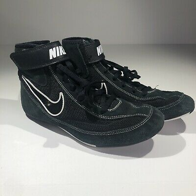 Nike Speedsweep Youth Size 6 Wrestling Shoes Black White 366684-001