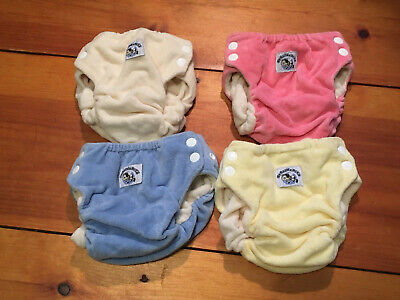 Organic Swaddlebees Velour Pocket Diaper Cover-Lot-Small- 4-No Liners-Never Worn