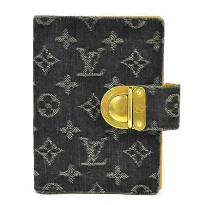 Auth Louis Vuitton Monogram Denim Koala Agenda PM Agenda Cover R21038 - y13976