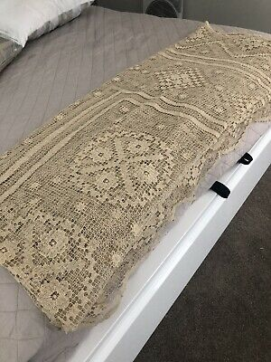 Crochet Lace Ecru Large Tablecloth/bedspread