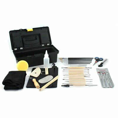 34pc Universal Hobby Complete Pottery Tool Craft Kit for Sculpting Molding
