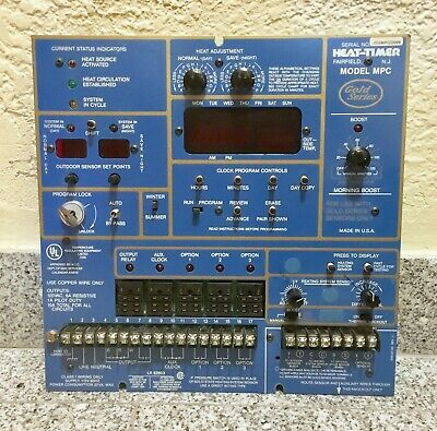 Heat-Timer MPC Gold - Control Board/Panel Only - Untested As Is For Parts/Repair