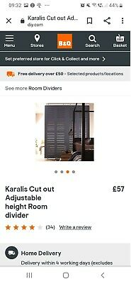 Karalis B & Q Cut Out Adjustable Room Divider partition no reserve bargain x 3