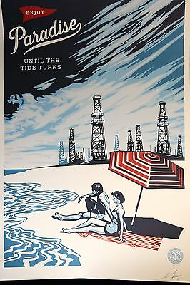 Shepard Fairey ♦ Paradise ♦ Grosse Lithographie Signiert Obey Giant Mint