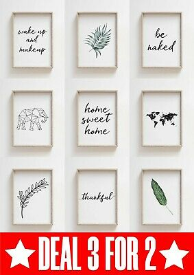 MEGA 3 For 2 Prints For Living Room and Bathroom Bedroom Funny Wall Art Funny