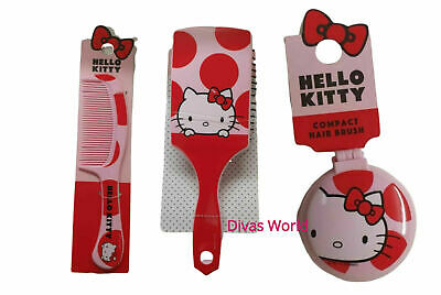 Hello Kitty Cute Comb Red Hair /Travel Brush Ladies Girls Accessories Primark