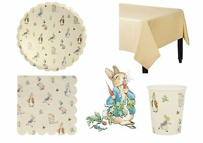PETER RABBIT & Friends Party Kit for 12-Large Plates, Napkins, Cups Tablecloth