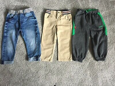 Boys Trousers/ Jeans Bundle Age 2-3 Years Baby Gap H&M