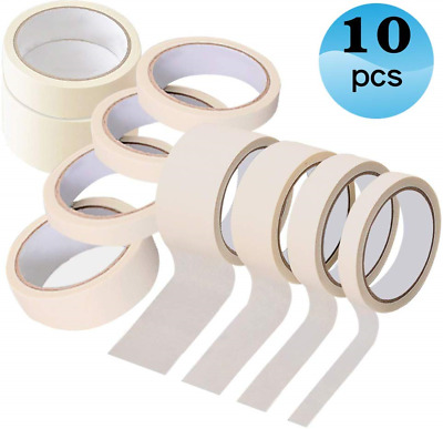 Masking-Tape-for-Painting Painters Tape 10 Pack 50mm × 20m,30mm × 20m,20mm × ×