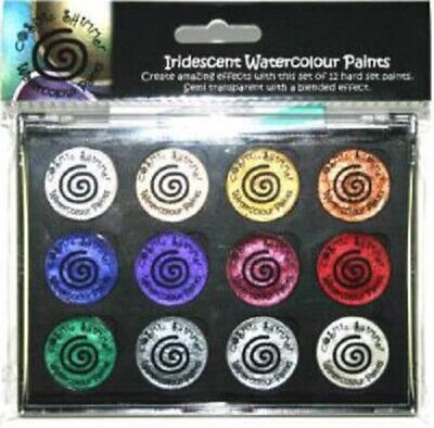 COSMIC SHIMMER IRIDESCENT Watercolour Paints x 12 CHRISTMAS Set 7 Copper Snow