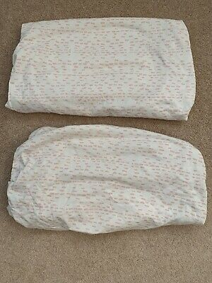 Snuz Crib Fitted Sheets Wave Rose x 2