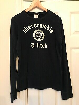 Boys Abercrombie & Fitch Navy Blue T-Shirt Size XL Fits Age 12-14 Years
