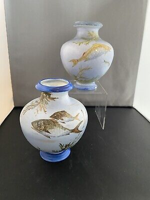 Pair Late 19th Early 20th Century Vases Possibly Wilkinsons One Signed F Ridgway