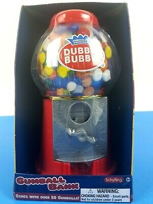 Schylling Original Double Bubble Gum Gumball Machine Bank UNOPENED BOX