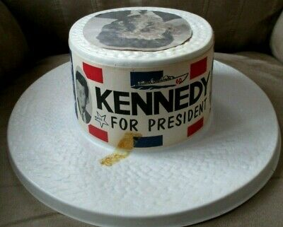 John F Kennedy -  1960 Kennedy for President Campaign Plastic Hat