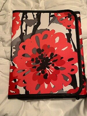 Thirty One BOLD BLOOM Fold It Up Organizer Ipad Tablet Case Holder Notepad