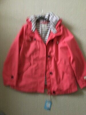 Joules Womens Coast Waterproof Jacket coral size 14 BNWT