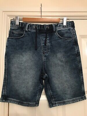 Boys M&S Jeans Joggers Shorts Age 11-12 Years Elasticated Waist