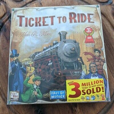 Ticket To Ride Board Game Cross Country Adventure Train Cars Days of Wonder NEW