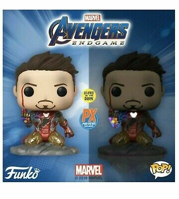 Avengers Endgame I am Iron Man Glow in the Dark Funko Pop PX Excl. PreOrder June