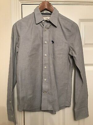 Boys Abercrombie & Fitch Grey Shirt Size XL Fits Age 12-14 Years