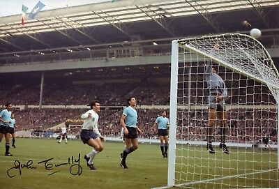 Footballer John Connelly signed England 1966 World Cup finals photo UACC DEALER