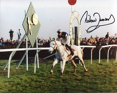 Jockey Richard Dunwoody signed Desert Orchid 8x10 photo UACC DEALER SIGNING!