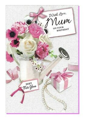"""Daughter Birthday Card LARGE 9/""""x6/"""" Simon Elvin  Flowers Floral Cart"""
