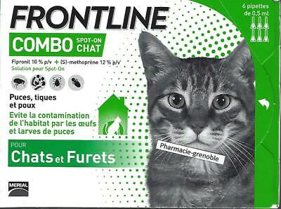 FRONTLINE Combo Chat - Anti-puces et anti-tiques - boite 6 pipettes