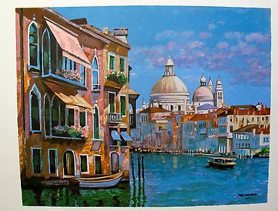 """Howard Behrens """"HOTEL VENEZIA"""" Hand Signed Limited Edition Art Serigraph"""