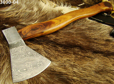 Hand Forged Damascus Steel Blacksmiths axe hatchet collectible gift Craft