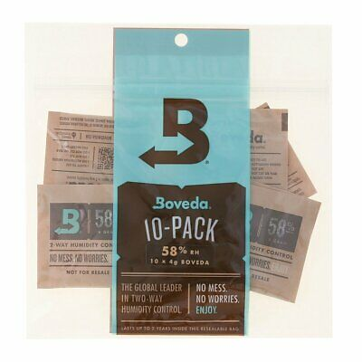 Boveda 58% RH 2-Way Humidity Control 4gm 10 Pack- New-End of Shelf Life