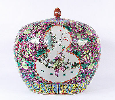 Antique Chinese Porcelain Covered Jar, 19 century