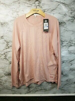 Under Armour Loose Long Sleeve Pink Shirt XL Athletic New 40$ #V