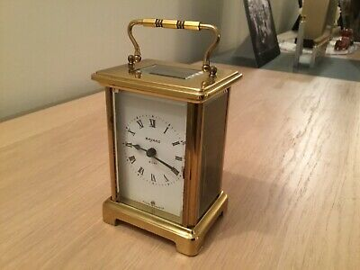 Antique Bayard 8 Day Carriage Clock Working Duverdrey Bloquuel 7 Jewel