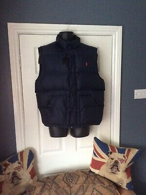 Polo By Ralph Lauren Dark Navy Padded Gilet Perfect Condition