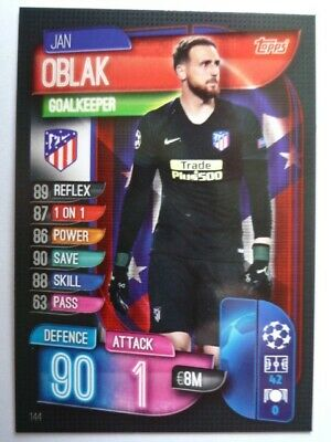 Topps Match Attax 2019/20 Athletico Madrid Oblak Card Comb P&P
