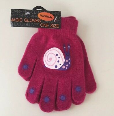 New (With Tags) Girls Magic Thermal Gloves. One Size. Unwanted Gift