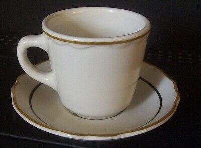 Restaurant Equipment 12 WHITE CHINA CUPS & SAUCERS