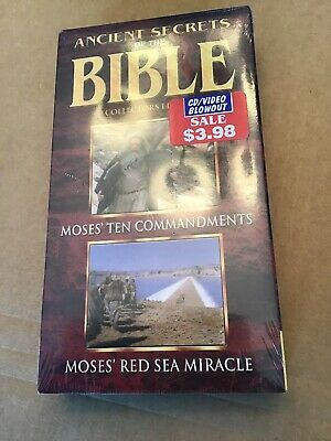 VTG Sealed Ancient Secrets Of The Bible Collectors Edition VHS