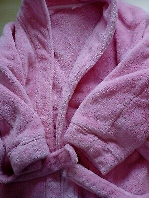 Girls Mothercare Pink Dressing Gown Age 6-7 Years