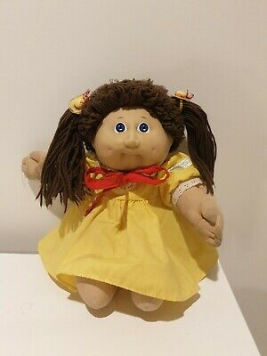 Vintage 1982 Original.Cabbage Patch Kids Doll Long Brown Hair