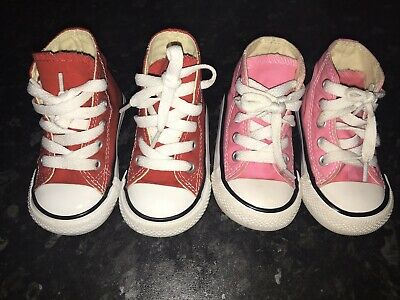 Infants Converse Size 4 Red And Pink