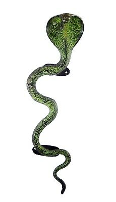 Black Cobra Snake Figurine Door Handle Brass Vintage Style Window Door Handle BM