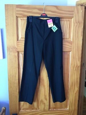 Girls Black School Trousers - Age 10 - 11 Years - George - BNWT